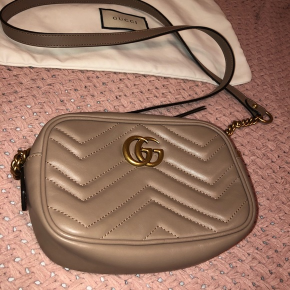 Gucci Bags Mini Marmont Camera Bag Nude Poshmark